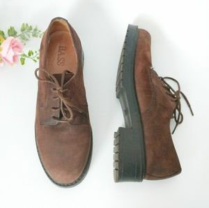 Vintage Bass Leather Lace Up Ankle Booties 7.5